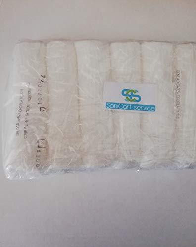 Bende di garza idrofila orlata puro cotone Mt 5x10 cm compatibile per bendaggio in Package promo di Confezione 6 pezzi