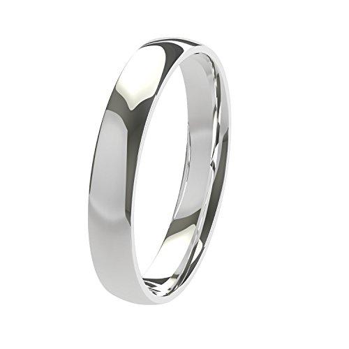 New solido Argentium argento 3mm pesante comfort Fit wedding anello unisex a forma di corte disponibile in tutte le dimensioni da H–Z + 3| prodotto nel Regno Unito & marchiato