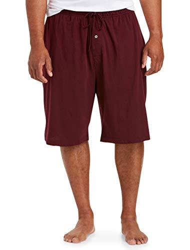 Amazon Essentials Men's Knit Pajama Short Shorts, -Burgundy, 2XL