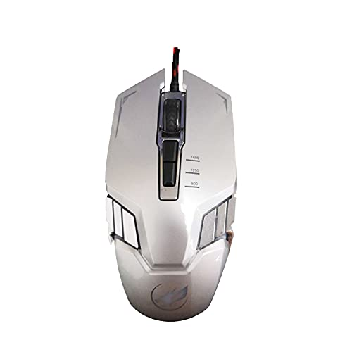 Q9 Optical Computer Mice Colorful Backlight Wired USB Metal Bottom 7D Gaming Mouse (Silver)