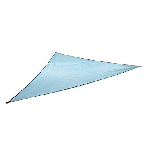 Baoblaze Dreieck tragbare wasserdichte Zelt Regenplane mit Seil und Aufbewahrungstasche - Lake Blue 3x3x3m