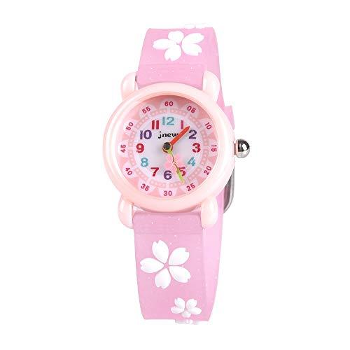 子供用 腕時計 ColiChili 女の子 ウォッチ 防水 3D 桜ウォッチ アラビア数字 見やすいかわいい アナログ表示 ピンク ガールズ 卒園 入学祝いプレゼント