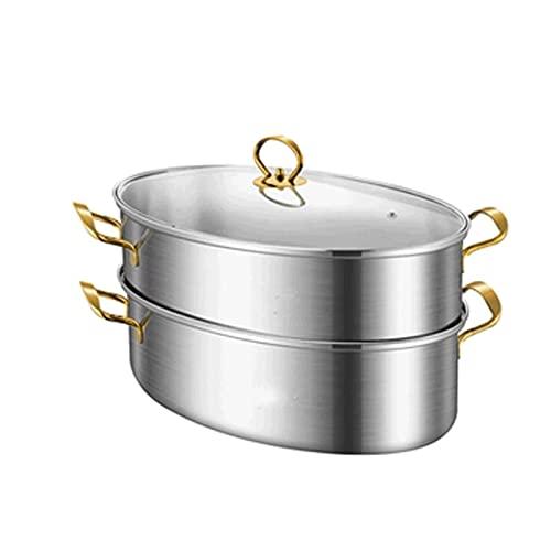 HHTD Potador de Sopa de Vapor de Acero Inoxidable Pote al Vapor Pote de inducción Cocina de inducción Estufa de Gas Universal Steamer