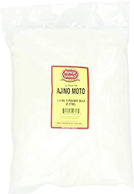 Spicy World Ajino Moto (MSG) Bulk, 5-Pounds