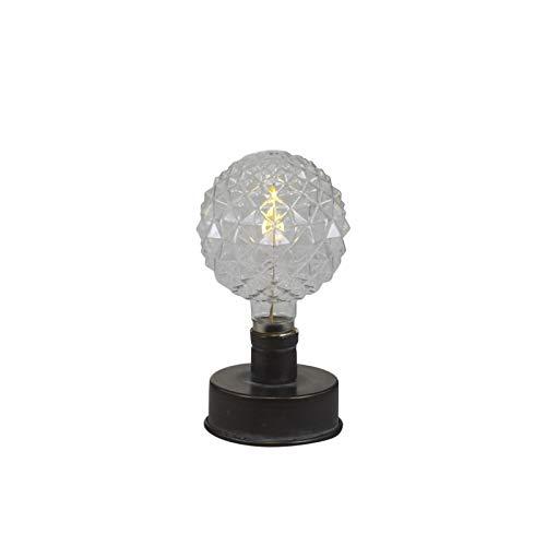 Chic Antique Lámpara nostálgica con bombilla estampada, LED, de carbón antiguo, lámpara de mesa, lámpara de mesa, lámpara de pie, balcón, terraza