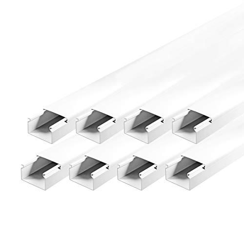 Kabelkanal Installationskanal schraubbar 40 x 25 mm PVC 8 m Wand Decken Montage allzweck für aller Art Kabel Haus Büro TV Lautsprecher Telefon Sat Internet ARLI