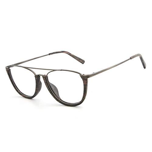 Mjd Zonnebril Plate Houten Graan Frame Half Frame Europa En Amerika Bril Retro Flat Bril Frame bril