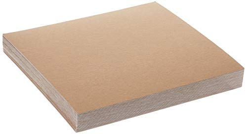Grafix Spanplatten-Blatt, mittelschwer, 30,5 x 30,5 cm, Weiß, 25 Stück 12