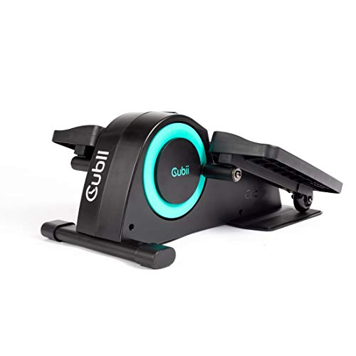 Cubii Jr: Desk Elliptical with Built in Display Monitor, Easy Assembly, Quiet & Compact, Adjustable Resistance (Aqua)