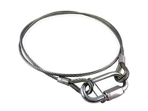 Sicherheitsseil Sicherungsseil mit Kettenverbindungsglied/Stahlseil/Fangseil/Rope/Drahtseil (800x3mm)