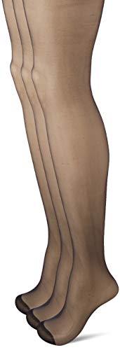 Dim Collant Voile Brillant 15D, Lot de 3, Femme, Noir (Noir 0hz), Small (Taille Fabricant : 1)