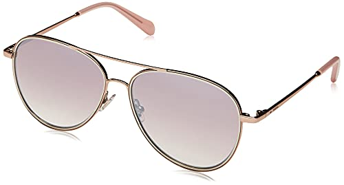 Fossil FOS 2096/G/S Sunglasses, Rose Gold, 57 Womens