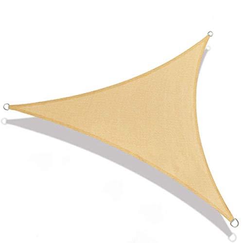 Triángulo a Prueba Sol Sombra Sol Vela, Toldo Con Protector Solar 98% Protección Contra Bloque UV Triángulo Toldo Antracita Para Jardín Al Aire Libre Fiesta En El Patio,cream color-6 * 6 * 6M
