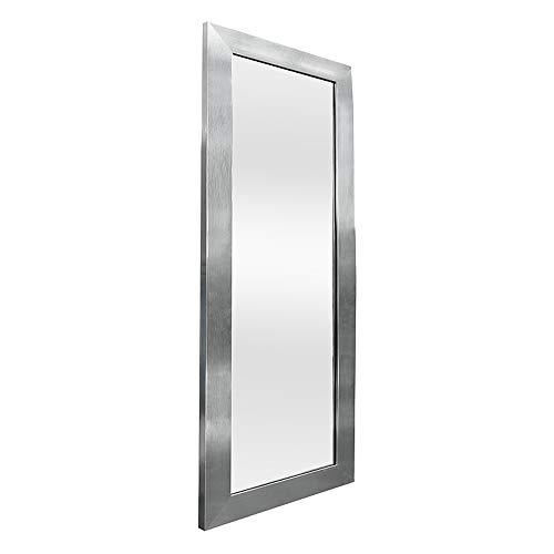 LEBENSwohnART Spiegel GINOS Silber 100x50cm Wandspiegel Hängespiegel Ganzkörperspiegel Modern