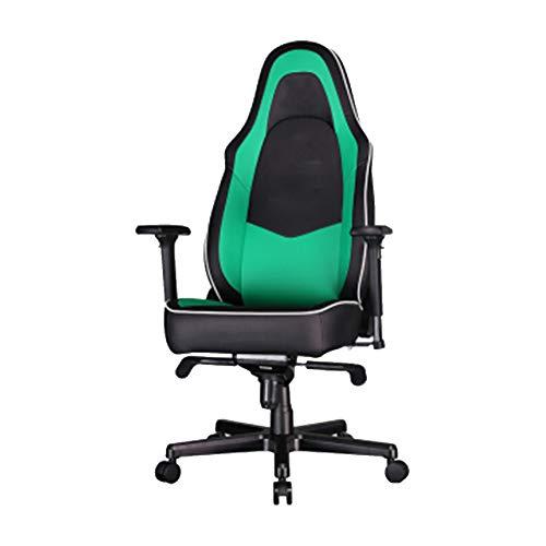 Silla para videojuegos con respaldo giratorio, cómoda tumbona ergonómica, color verde