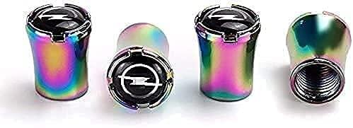 Coche Neumático Tapas Válvulas para Opel Mokka Astra Corsa, Antirrobo Antipolvo Resistente Agua Decoración Accesorio