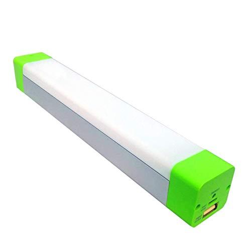 XINBAOHONG Portable LED Camping Light Stick, Emergency Magnetic Work Lamp Lantern, Rechargeable Handy Light for Home Lighting, Outdoor Night Fishing, Hiking,Biking(Green)