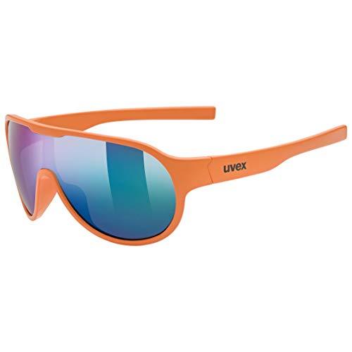 uvex Unisex Jugend, sportstyle 512 Sonnenbrille, orange mat/mirror green, one size