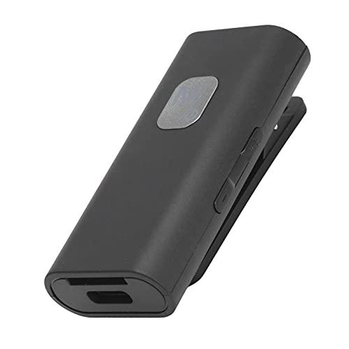 ASHATA Receptor Bluetooth 5.0, Adaptador de Receptor de Audio inalámbrico con Clip portátil, Receptor Bluetooth de Manos Libres para automóvil con micrófono Incorporado