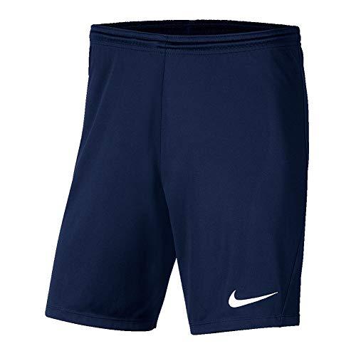 Nike Park 3 Shorts Mixte Enfant, Bleu Nuit/Blanc, L