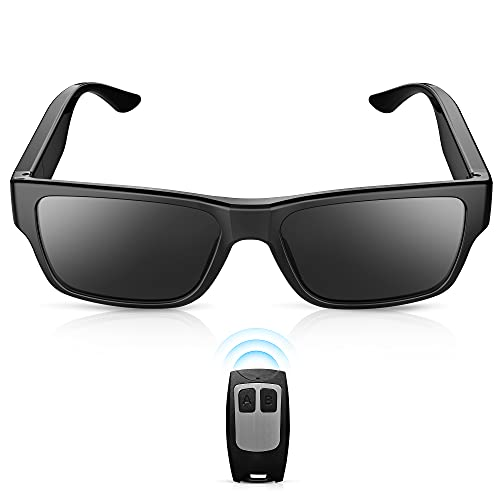 ViView G2S Remote Control Video Glasses,Smart Camera Sunglasses with Audio and Video Recording FHD 1080P for Motorcycle Riding Mountaineering Camping Hiking and Driving (G2S-32G)