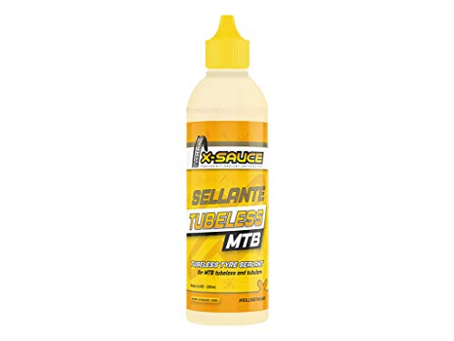 X-Sauce Sellante antipinchazos para tubeless (MTB) Anti Pinchazos, Ruedas, Amarillo, 200ml