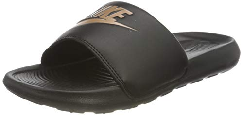 Nike Damen Victori One Slide Sandal, Black/Metallic Red Bronze-Black, 39 EU