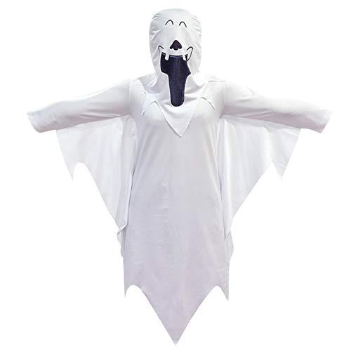 ERFD&GRF Disfraz de Bruja sangrienta de Terror Disfraz de Miedo Ropa de Halloween Vestido de Fantasma Disfraces de Halloween para niños Disfraz de Cosplay de Miedo, Blanco, 160 cm