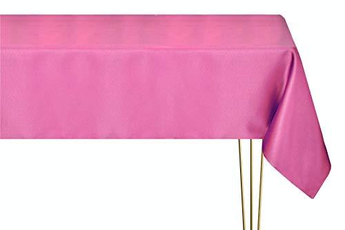 Mantel antimanchas en varios tamaños, formas y colores. Mantel cuadrado fucsia rosa liso hecho a mano 100% poliéster mantel jardín 200 x 200 cm
