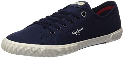 Pepe Jeans London Herren ABERMAN SMART Sneaker, Blau (Navy 595), 43 EU