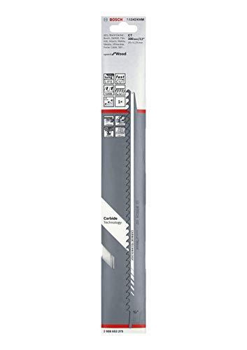 Bosch Professional Hoja de sierra sable S 1242 KHM Speed for Wood, para madera, 300 x 25 x 1.25 mm, accesorio de sierra sable