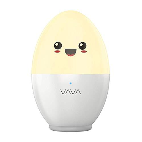VAVA Nachtlicht Kind Nachttischlampe Baby Kinder ÖKO-TEST GUT LED Schlummerlicht Stimmungslicht USB Batterie Baby-sicher Bruchsicher Augenfreundlich Farbtemperatur 2700-6500K (Generalüberholt)
