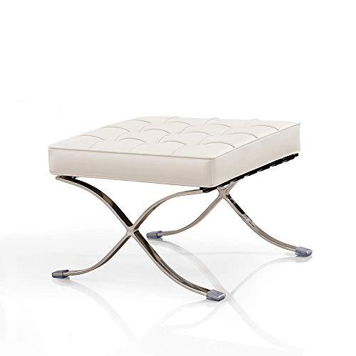 Vivol Sessel Stuhl Weiß Ottoman - Moderner Klassiker Retro Sessel - Design und Qualität erhältlich