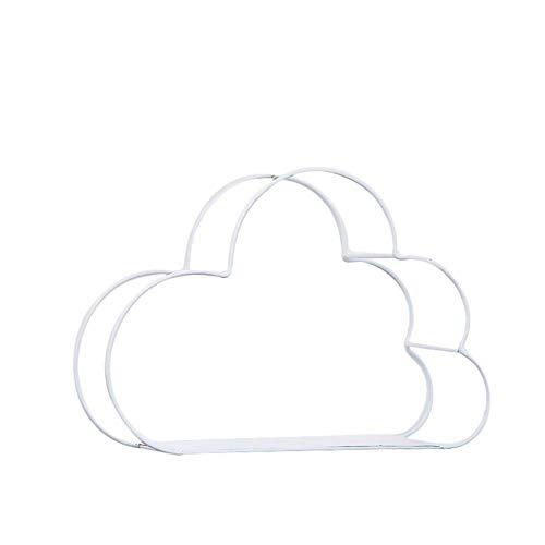 Liapianyun Wolken Wandregal, Schmiedeeiserne Wolke Wand Wohnzimmer Schlafzimmer Wand Trennwand Küche Für Wand,Weiß