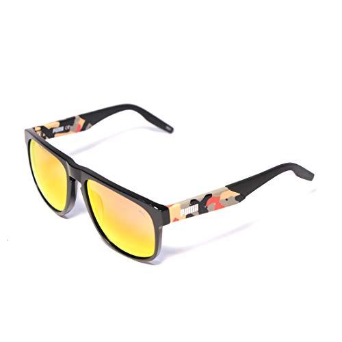 PUMA sonnenbrille PU0225S 005 schwarz rot größe 56 mm mann