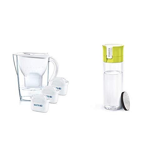 BRITA Marella Fridge water filter jug, 2.4L & Water Filter bottle, reduces...