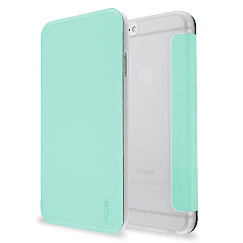 Artwizz SmartJacket Etui für Apple iPhone 6 Plus, 6s Plus - Schutz-Hülle im Metall-Look mit Frontcover, Rückseitenschutz und geschmeidigen Grip - Designed in Berlin - Mint