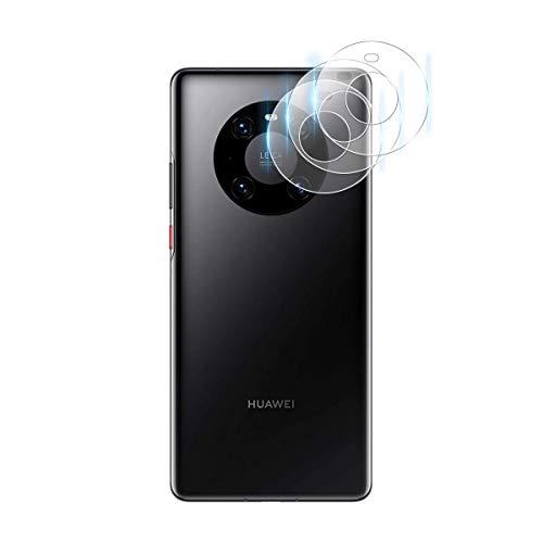 GEEMEE Kamera Panzerglas Schutzfolie für Huawei Mate 40 Pro,9H Filmhärte Gehärtetem Schutzglas Hohe Empfindlichkeit Panzerglas Bildschirmschutzfolie (Transparent) - 3 Pack