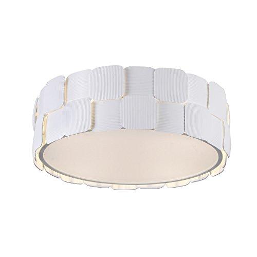Italux Elisa - Lámpara de techo moderna a ras de suelo Blanca 4 luces, E27