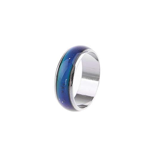 Dragonface Edelstahl Magie Mood Ring Temperatur Farbe ändern Verhalten und Emotionen Ringe für Frauen-Mann-Paar-Ring-Schmuck (16)