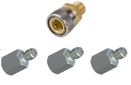 Schnellverschlusskupplung mit 3 Stück Druckluftstecker
