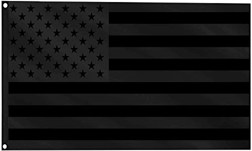sommen Black American Flag 3x5 All Black US Flag Double Sided Printing Double Stitched Polyester with Brass Grommets Banner Flags Outdoor Indoor
