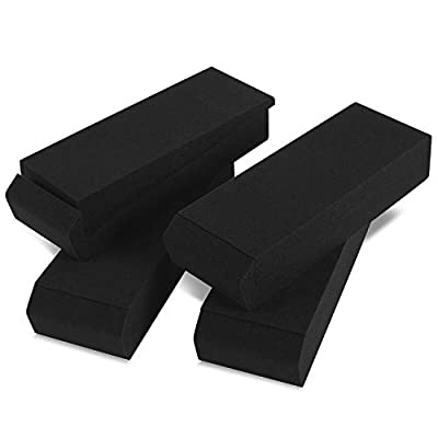 Sound Addicted - Studio Monitor Isolation Pads, Reduce Speaker Vibrations and Fits Most Stands - 2 Pair   SMPads from Sound Addicted