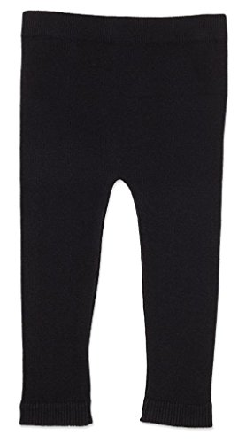 Silky Toes Infant, Baby, Toddler Knit Leggings, Cotton Pants for Girls and Boys, (Black, 12-18M)