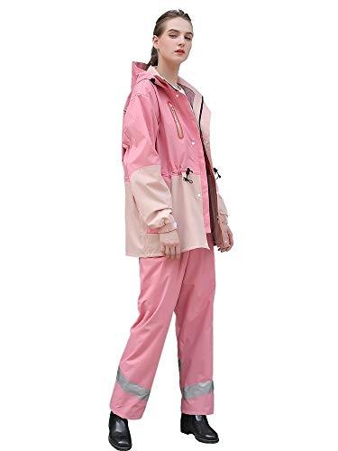 LSLS Raincoat Thick Waterproof Raincoat Raincoat Rain Pants Suit Female Split For Cell Vehicle Motorcycle Outdoor Camping Tent Storm Proof Rain Poncho (Size : Medium)