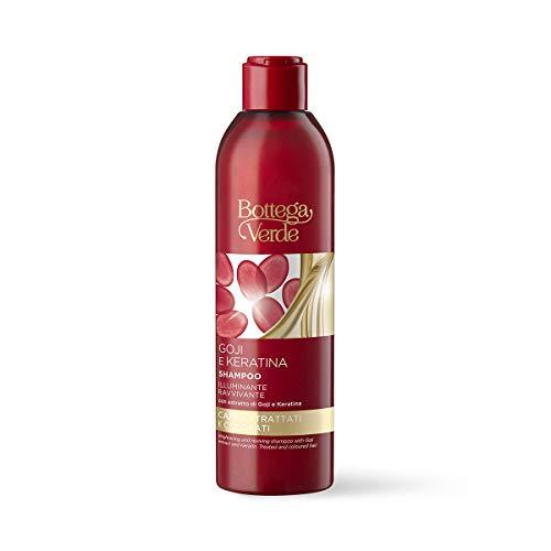 Bottega Verde, Goji e Keratina - Shampoo illuminante ravvivante - con estratto di Goji e Keratina (250 ml) per capelli trattati e colorati
