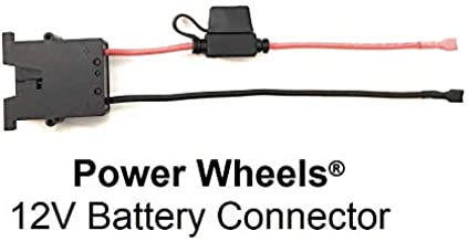 KASSupply 12V Battery Wire Harness Connector for Fisher-Price Power Wheels Ride-On Toys