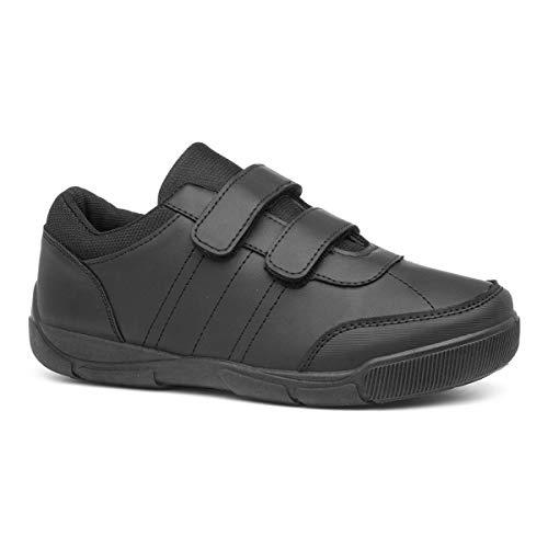 Trux Boys Black Easy Fasten Shoe in Black