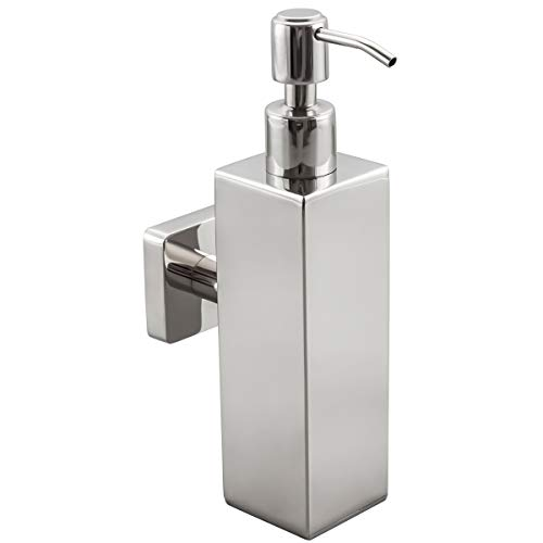 Frap 200ML Edelstahl Seifenspender Wandmontage, manuelle Bad Seifenspender Shampoo Flasche Wand Seifenspender,Chrom