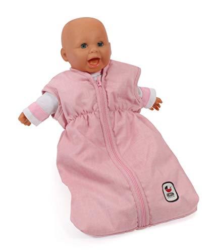 Bayer Chic 2000 792 15 Puppen-Schlafsack für Babypuppen, Melange rosa